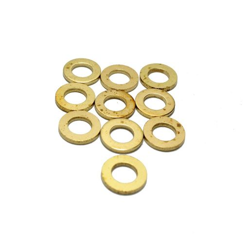 M6 Form A Thick Brass Washers Pacl of 10